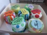 Мини торт радужное настроение