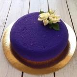 Мусовый торт с шоколадным велюром
