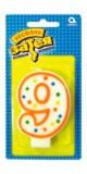 """Свеча для торта """"9"""""""