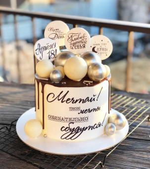 Шоколадный торт с макарунами, Торты на заказ