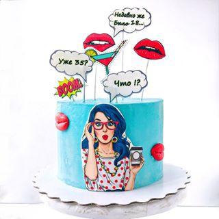 Торт в стиле Поп-Арт (POP ART), Торты на заказ