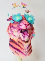 Креативный торт. Тигр и бабочки